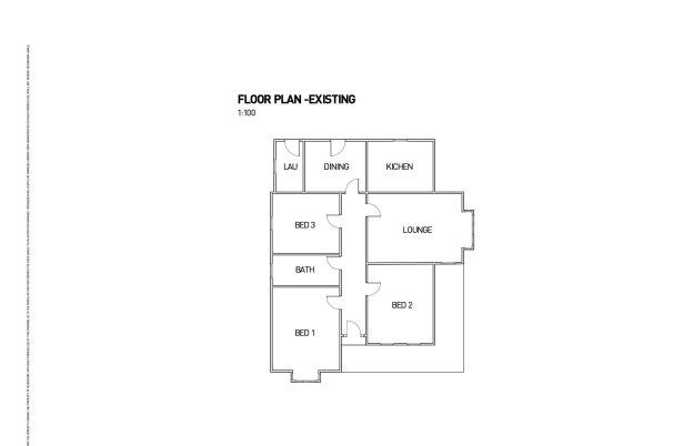 Existing floor plan-2
